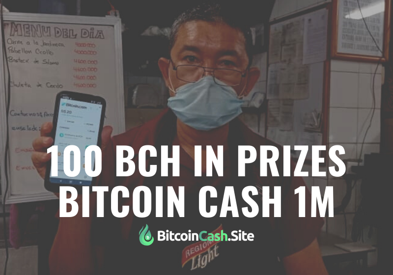 Bitcoin Cash 1M: 100 BCH in Prizes Up for Grabs